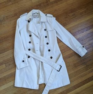 Banana Republic White Trench Coat - has stains